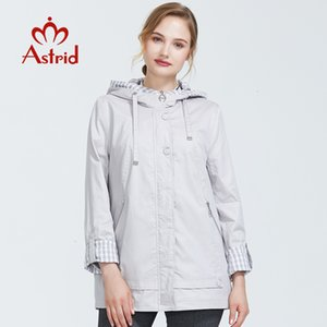 Astrid 2021 Autumn New Arrival Woman Plus Size Short Trench for Women a Hood Warm Thin Coat with Zipper As-9013
