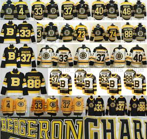 2021 Retrò Retro Boston Bruins Ice Hockey 4 Bobby Orr Zdeno Chara 37 Patrzia 46 Krejci David 88 Pastrnak 40 Tukka Rask Uomo Maglie per bambini