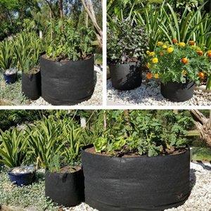 정원 심어 짠 가방 패브릭 제기 정원 침대 큰 라운드 심기 컨테이너 냄비 꽃 재배 가방