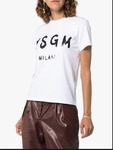 Vogue Lette Напечатано MSGM T Рубашка Женщины Мужчины Tumblr Графические Третажи Женщины Плюс Размер T Рубашки О-Шея Летние Топы Drop Доставка