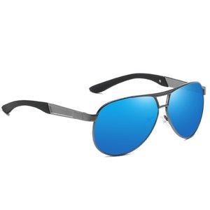 Blue Lenses Polarized Men's Sunglasses Pilot Glasses Sun Protection Anti Reflection Trends 2021 Fashion Brands Luxury Imitation