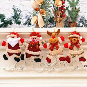 Christmas decorations Home shop storefront Santa Doll deer Snowman door Tree Pendant HWD10156