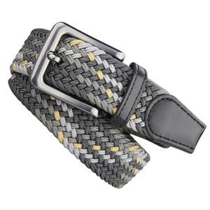 Liyu Fashion Men's and Women's Camouflage Rubber Band Elastic Belt Pin Buckle Woven Belt