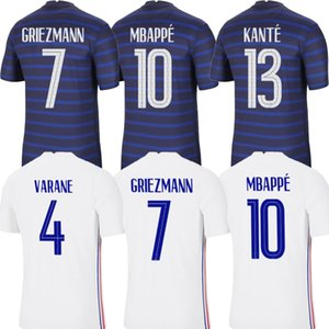 Maillots de football 2020 2021 mbappe grizmann pogba 20 21 كرة القدم جيرسي مايلوت دي القدم fekir pavard football kit top shirt hommes enfants