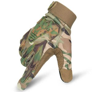 Tactical Airsoft Gloves Army Military Combat Shooting Multicam Outdoor Paintball Hiking Hunting Camo Full Finger