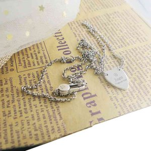 Buy 75% Off Heart shaped couple necklace hip hop love pendant personalized sweater chain Christmas gift