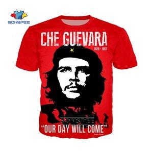 Sonspee Che Guevara Graffiti T Gömlek Erkekler Kadınlar Özel 3D Baskı T-Shirt Yaz Anime Streetwear Rahat Boy Tee Gömlek Homme L0223