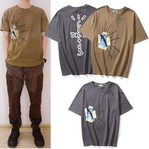 Fashion brand new Travis Scott TS Jumpman co branded TS short sleeve men's hip hop loose T-shirt women's high street fashion