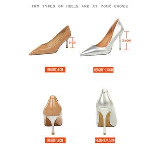 La desnudez de plata apuntó a los tacones boutique femeninos y la primavera 2021 NUEVO Girl Wild Girl Annual Sexy Party Shoes únicos de mujeres TA6H