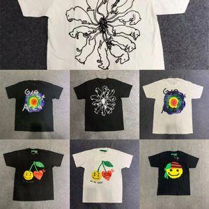 Impresión espumante CPFM X Kid Cudi Hombre en la luna III Tee Hombres Mujeres 1: 1 Black White Streetwear T-shirts NUEVO L0223