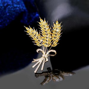 Women's Wheat Ear Brooch Teacher's Day Gift Corsage Coat Fall Winter Accessories Golden Barley Pin