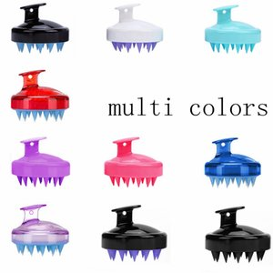 Hair Clippers Soft Silicone Shampoo Brush Hair Salon Home Massage Shampoo Comb Clean Scalp Brush LLA378