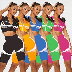 Womens short sleeve outfits 2 piece set yoga tracksuit shirt legging jogging sportsuit sportswear sweatshirt tights klw6100