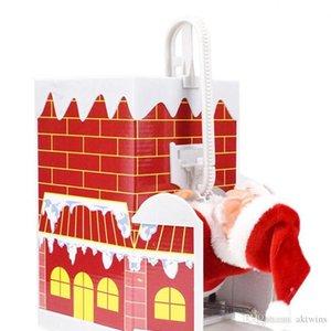 Fashion Xmas Santa Box Toy Xmas Music Electric Toy Santa Climb Ladder Electric Toys Christmans Decoration Baby Toys Xmas Party Gift WY96Q