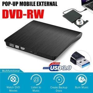 55set Portable Ultra Slim External USB 3.0 DVD RW DVD-RW CD-RW CD Writer Drive Burner Reader Player For Laptop PC11