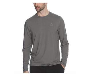 2021 Neue 65% Merinowolle Sport T Jersey Basisschicht Langarm Midweight Männer Pullover Outdoor Warme Thermische Kleidung Hemd 200g Ilk8