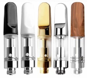 2021 TH205 Empty Vape Pen Cartridges Packaging 0.5ml 1ml Ceramic Glass Thick Oil Dab Pen Wax Vaporizer 510 Thread Carts Atomizer