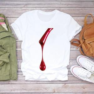 Women 2021 Summer Fingernail 3D Nail Art Printing Fashion Lady T-shirts Top T Shirt Ladies Womens Graphic Female Tee T-Shirt