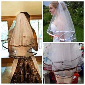 신부 베일 2021 화이트 카모 에지 베일 팔꿈치 빗 위장 웨딩 액세서리 실제 POS
