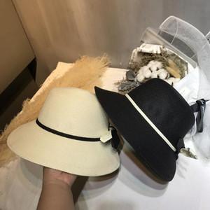 Trendy Bow Basin Hats Bee Metal Designer Hat Women Sunscreen Hats Folding Straw Hats Caps For Summer