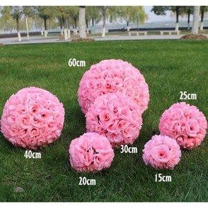 12 Inç Düğün Ipek Pomander Kissing Topu Çiçek Topu Düğün Bahçesi için Çiçek Yapay Çiçek Süslemeleri XMH_HOME