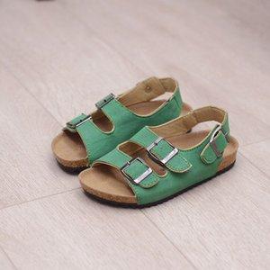 Ortoluckland niños Hebilla Sandalias de corcho Niños Boys Beach Slippers Baby Girls Summer transpirable No Slip Shoes W0108