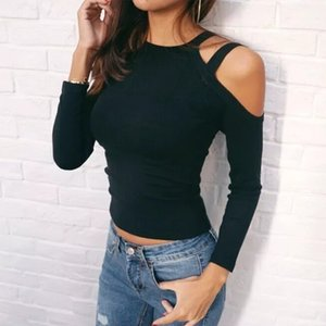 2021 New Strapless Top Female Ny Knitting Black Clothing for Ladies Sexy Autumn Plus Size Shirt Women S3k7