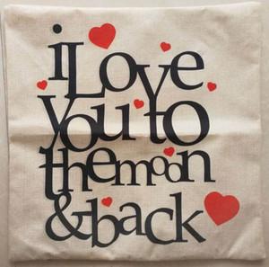 Hot sale cushion cover square pillowcase 45cm * 45cm beige background creative letters fashion design freeshipping wholesale