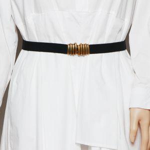 Black Belt, Women's Versatile Elastic Caterpillar Belt, Decorative Sweater, Suit Coat, Waist Cover, Outer Cover