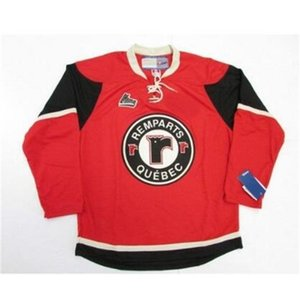 goodjob Men Youth women Vintage # goodjobize QMJHL Quebec Remparts Red White Hockey Jersey Size S-5XL or custom any name or number