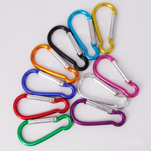 Outdoor Carabiners Camp Snap Clip Hook Carabiner Ring Outdoor Sports Keychains Type D 56*29MM and B 60*28MM Shape Hook Aluminum Accessory