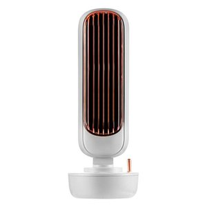 2021 New bedroom furniture Air Cooler Mini Fan Multifunctional Desktop Silent Cooling Humidifier Home Office USB Leafless Rechargeable