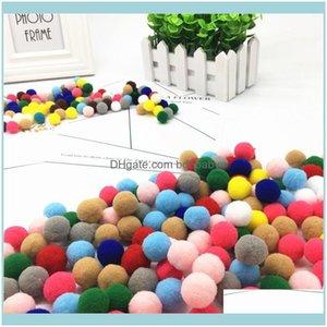 Decorative Festive Party Supplies Gardendecorative Flowers & Wreaths Xinyue Pompom 10 15 20 25 30 Mm Soft Fur Plush Ball For Craft Diy Weddi