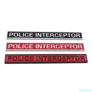 Car styling Metal POLICE INTERCEPTOR Logo Emblem Sport Badge Sticker Decal Car Accessories