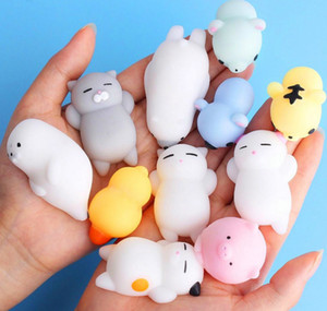 Squishy Min Change Color Cute Cat Antistress Squishy Ball Squeeze Mochi Rising Abreact Soft Sticky Stress Relief Funny Gift Toy DLH315