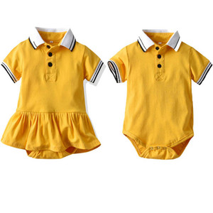 Baby Romper Boys Rompers Summer Cotton Short Sleeve Infant One Piece Clothing Girls Dress Onesies Jumpsuit Baby Clothes B3919