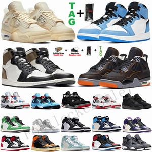 nuevo blanco Unión Vela Bred zapatos de baloncesto del Mens Jumpman 4 4s Rojo Fuego Negro Gato Paris Noir hombre deportes para mujer zapatillas retro Formadores