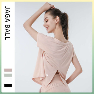 Lulu new mesh quick drying women's loose running blouse fitness suit short sleeve sports T-shirt breathable Yoga Top