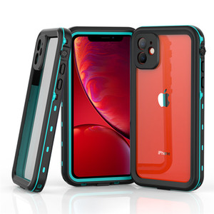 For iPhone 11 12 XS Max X 8 7 Plus Samsung Galaxy S20 Note 20 Waterproof Case Cover Water Shock Proof Wireless Charger