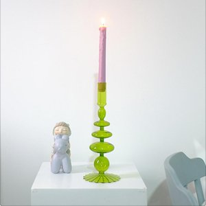 Candle Holders Candlesticks Retro Glass Classic Craft For Wedding Decorations Holder