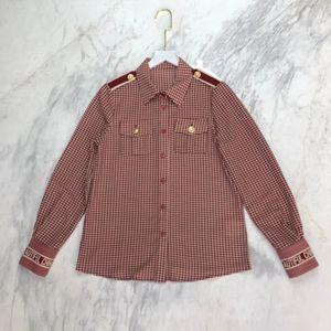 220 2021 Runway Shirts Spring Summer Shirts Lapel New Brand Same Style Shirts Weilan