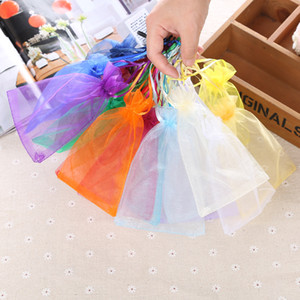 50pcs 7x9cm Organza Bags Christmas Halloween Wedding Party Gift Bags Baby Shower Birthday Candy Chocolate Packaging Bags