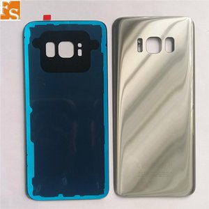 30PCS Battery Door Back Cover Glass Housing with camera lens cover + Adhesive Sticker For Samsung Galaxy S8 S8 Plus 50PCS Can Single LOGO & Double LOGO