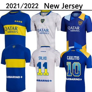 21/22 Boca Juniors de Rossi Soccer Jersey 2021 2022 Test Tevez Carlitos Maradona القمصان الرومانية Salvio Abila Pavon كرة القدم