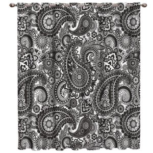 Curtain & Drapes Black And White Paisley Window Treatments Curtains Valance Lights Outdoor Fabric Kids Treatment Ideas
