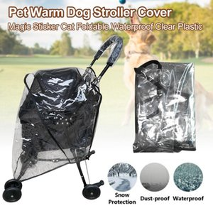 Breathable Windproof Protection Dustproof Cat Carrier Accessories Pet Warm Foldable Waterproof Clear Plastic Dog Stroller Cover