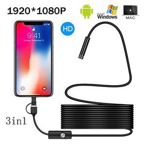 Caméras 1080P Full HD USB Android Caméra Endoscope IP67 1920 * 1080 1M 2M 5M Micro Inspection Vidéo Borecope Borecope Tube