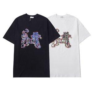 21SS Designer Mens Womens T-Shirts für Mann Paris Mode T-Shirt Top Qualität T-Shirts Street Kurzarm Luxurys Tshirts Asian M-XXL