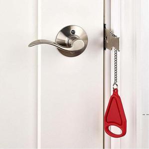 Tragbare Sicherheitsschloss Kid Safe Sicherheit Türschloss Hotel Tragbare Latches Diebstahlsicherungen Home Tools HWA4147