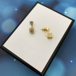 2022 Charm studs earrings with letter for women party wedding lovers gift jewelry engagement Bride